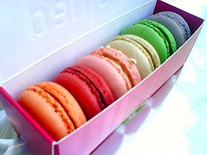 Six different macaron flavors from Paulette Macarons